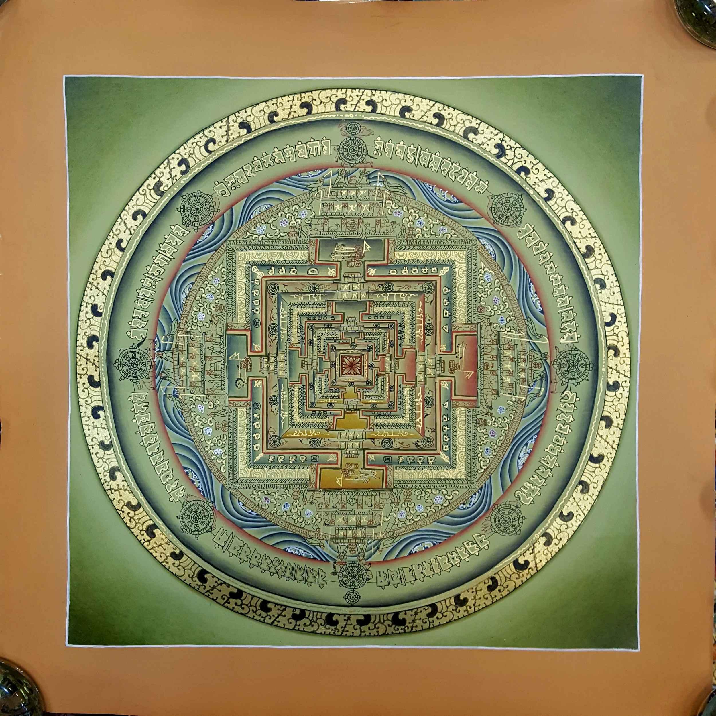 Green Kalachakra Painting