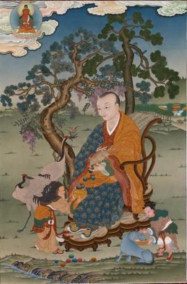 Thangka of Bakula Arhat