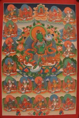 Thangka of 21 Taras