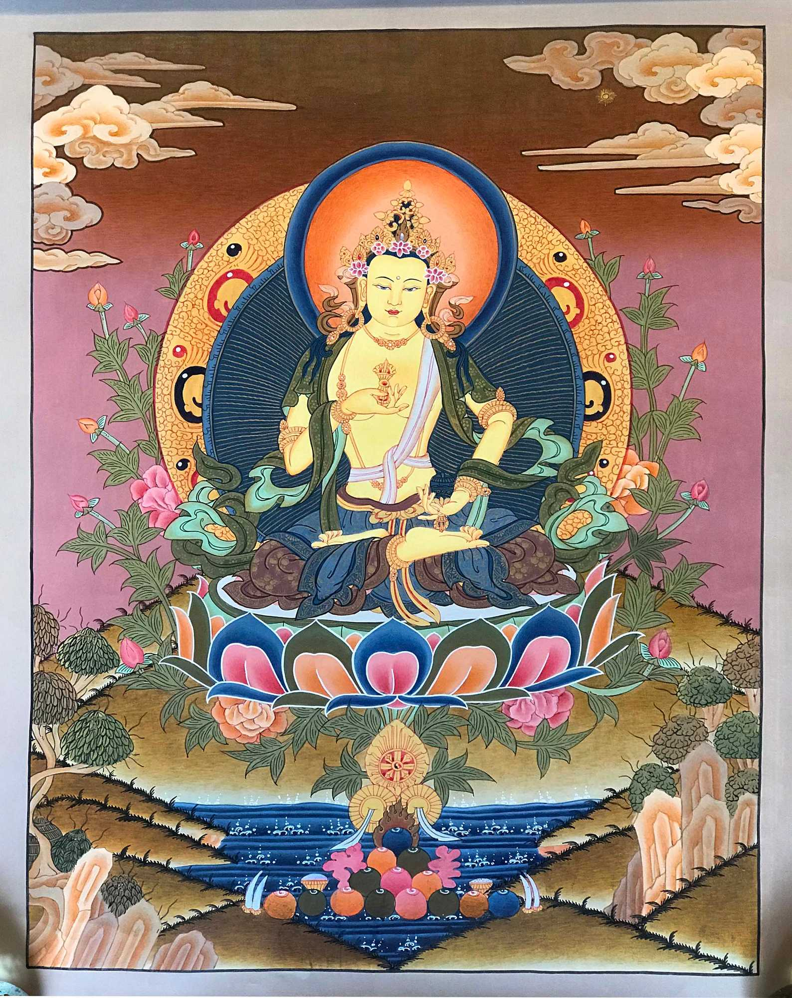 Vajrasattva Traditional Painting Thangka
