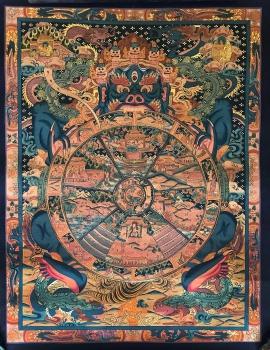 Tibetan Thangka of Wheel of Life