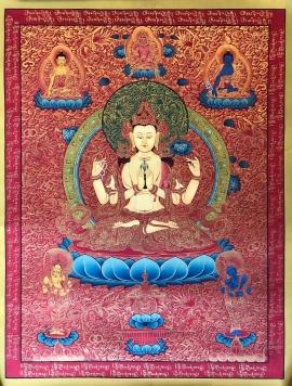 Bodhisattva Chenrezig Thangka