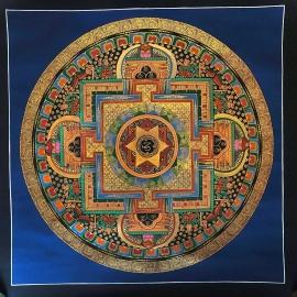 Tibetan Om Mantra MTibetan Om Mantra Mandala Thangkaandala Thangka