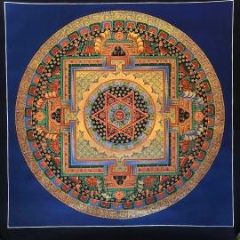 Tibetan Om Mantra Mandala Art