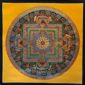 Om Mantra Mandala Painting