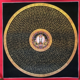 Avalokiteshvara Mantra Mandala Thangka