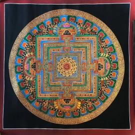 Om Tibetan Mantra Mandala