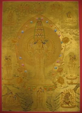 1000 Armed Avalokiteshvara Thangka