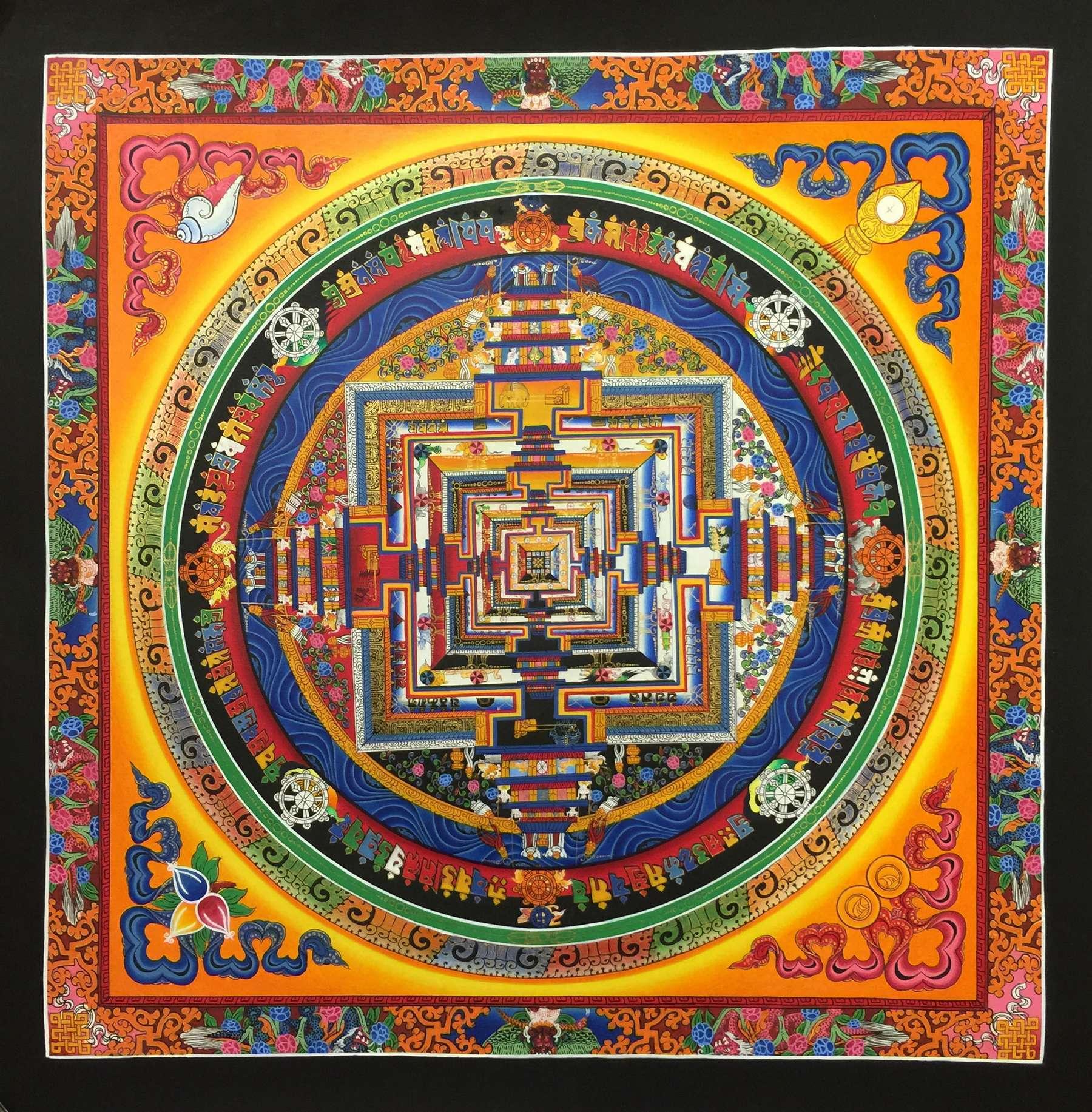 Kalachakra Ritual Painting Art