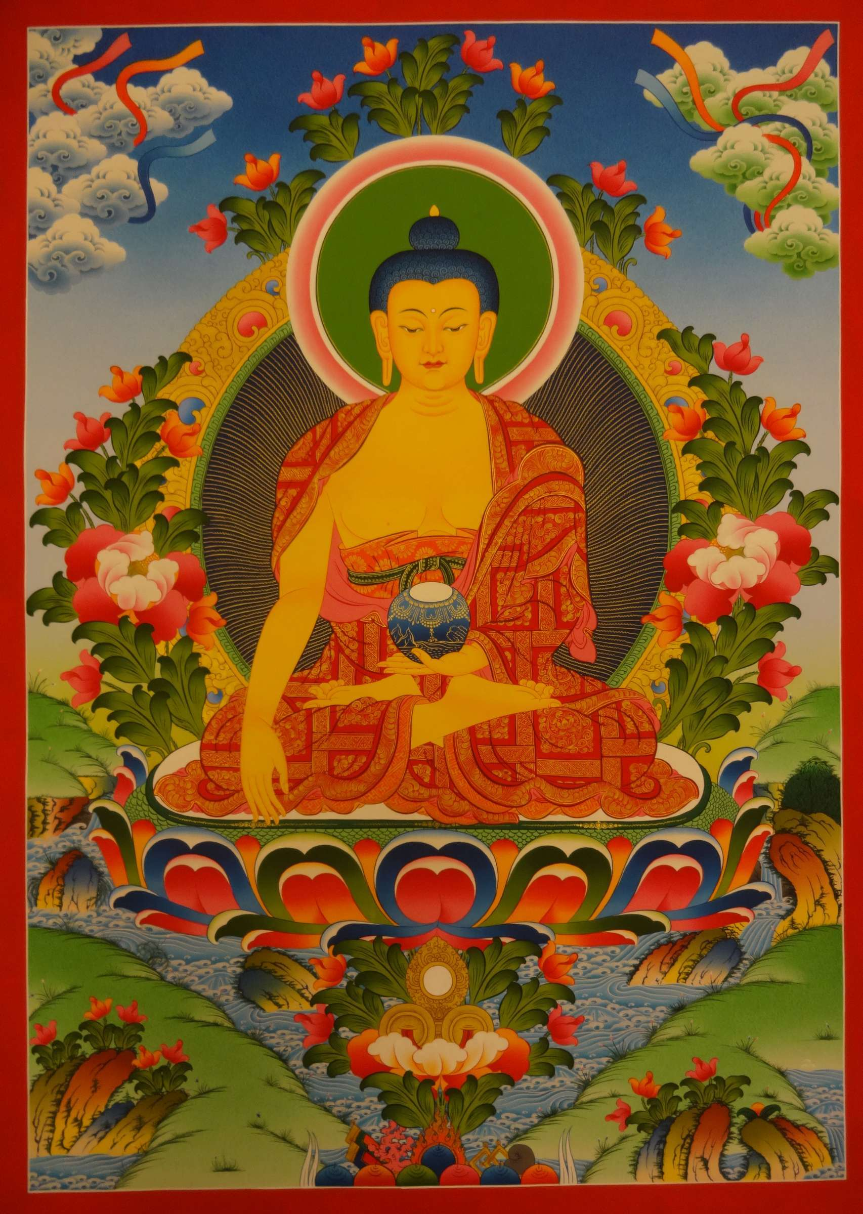 Shakyamuni Buddha Hand Painted Thangka