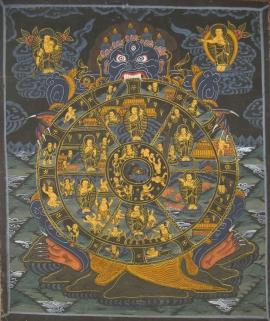 Wheel of Life Ritual Thangka Painting