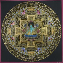 Black and Gold Green Tara Ritual Mandala