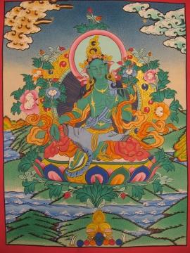 Tibetan Thangka of Drol Jang