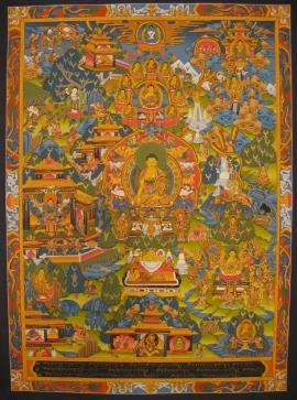Buddha Life Story Thangka Painting