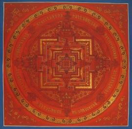 Red Kalachakra Tibetan Mandala