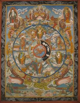 Tibetan Thangka of Wheel of Samsara