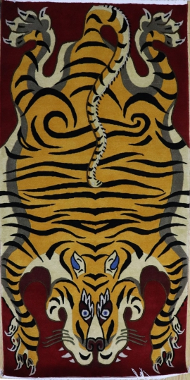 Hand-knotted Tibetan Tiger Carpet