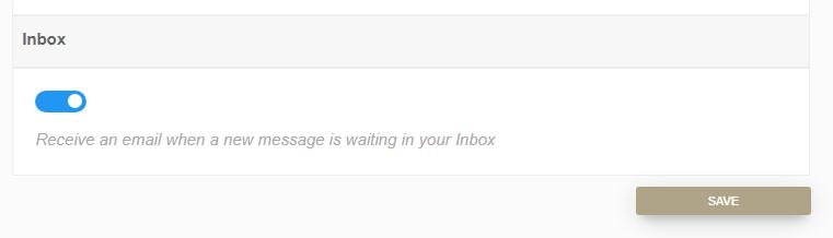 Inbox notifications