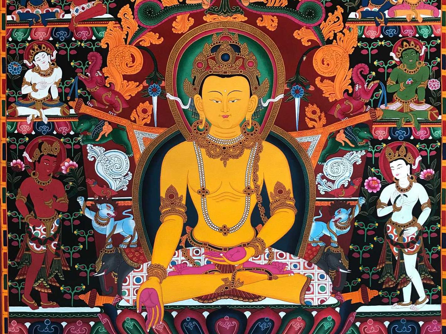 The Ratnasambhava Mantra Banner