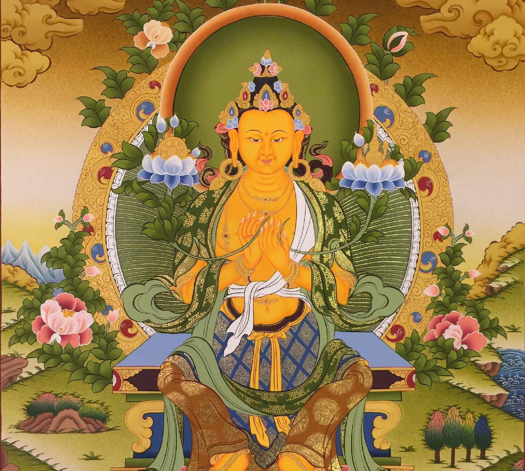 The Maitreya Buddha Mantra Banner