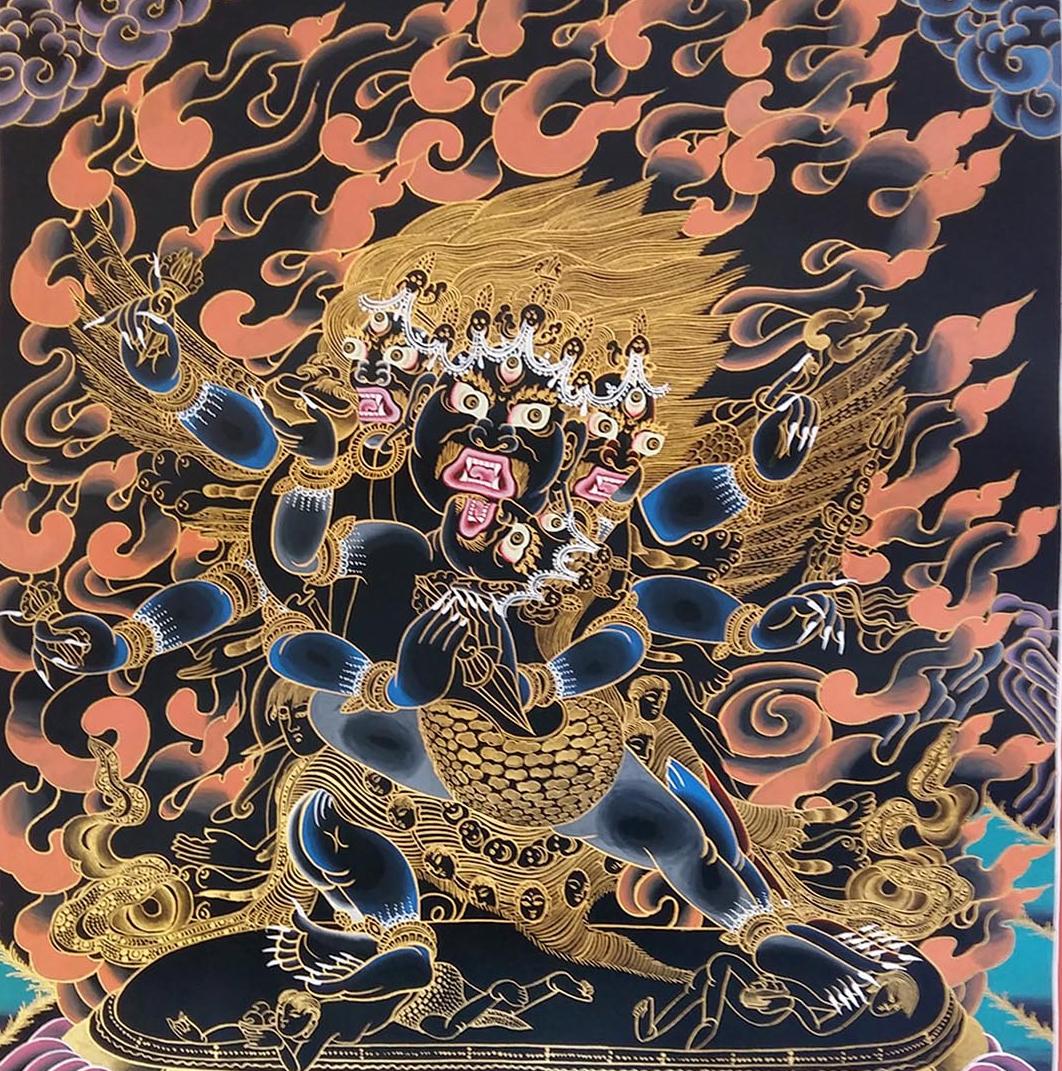 The Vajrakilaya Mantra Banner