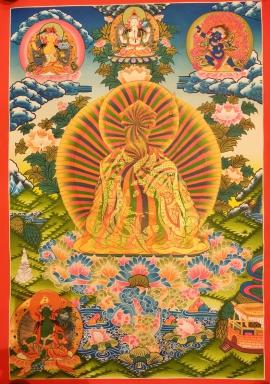 Rainbow Guru Rinpoche Thangka Painting