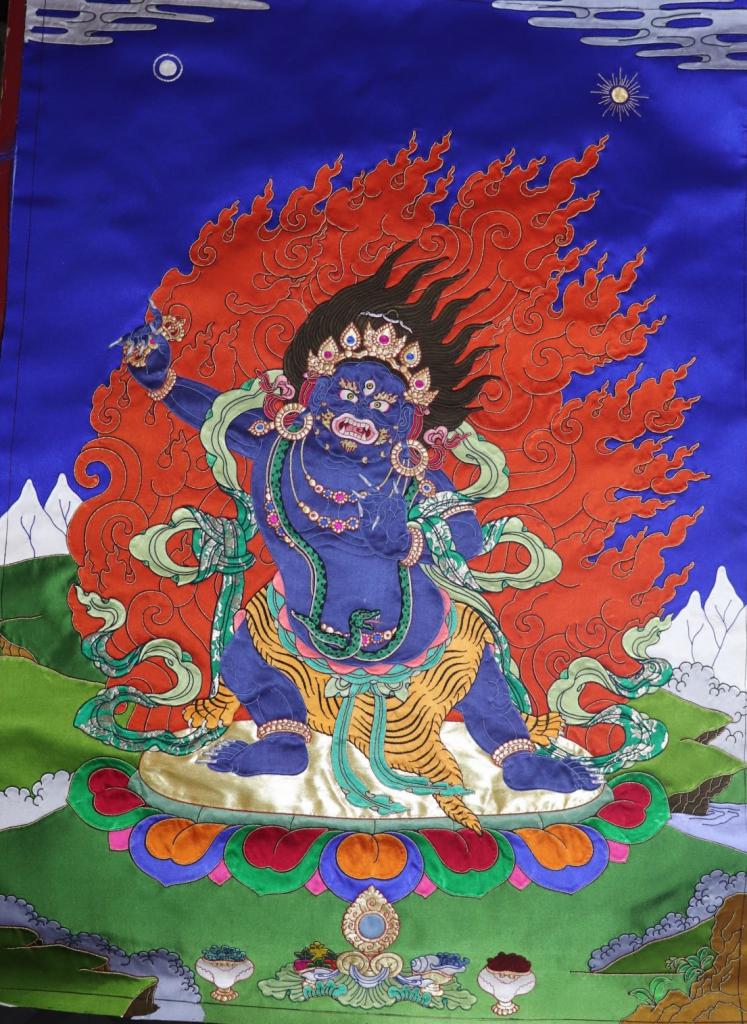 Vajrapani Applique Thangak